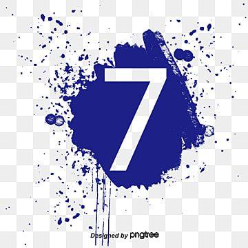 Digital Ink 7 Ink Marks Number 7 Png Transparent Clipart Image And Psd File For Free Download Digital Ink Background Banner Ink