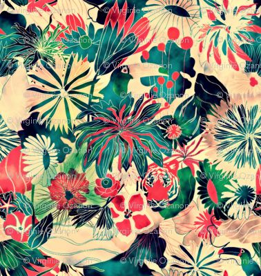 Jungle fabric by demigoutte on Spoonflower - custom fabric // Patterns, Fabrics, Prints & Dessins