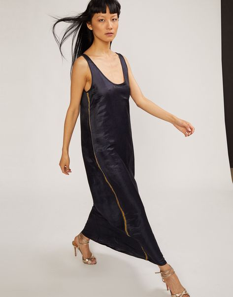 b800a2e0c543 Cynthia Rowley Tulum Silk Maxi Dress With Ribbon Trim - XS ...