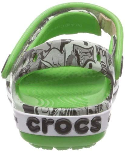 Crocs Boy S Crocband Ben 10 Lime Sandals C7 Buy Online At Low Prices In India Amazon In Sandali