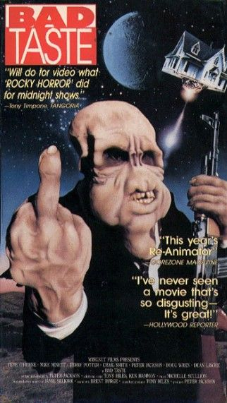 Bad Taste (Magnum)  Before Lord of the Rings and King Kong, Peter Jackson was making epic low budget splatter flicks like this 1987 flick, about aliens who want to put humans on the inter-galactic fast food menu.  Must see!