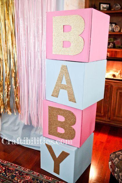 Gender Reveal Baby Shower Party Ideas Diy Decorations Large Display Photo Ba Gender Reveal Diy Gender Reveal Decorations Gender Reveal Party Decorations