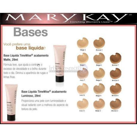 Base Liquida Timewise Acabamento Matte Mary Kay Base Liquida