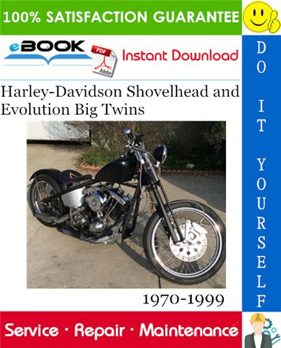 Harley Davidson Shovelhead And Evolution Big Twins Motorcycle Service Manual 1970 1999 Download Motorcycle Model Repair Manuals Harley Davidson