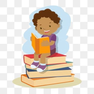 Children Reading Book School Children Clipart Education Kids Png And Vector With Transparent Background For Free Download Kids Reading Books Kids Reading Kids Clipart