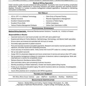Medical Billing And Coding Resume Sample  Med Billing