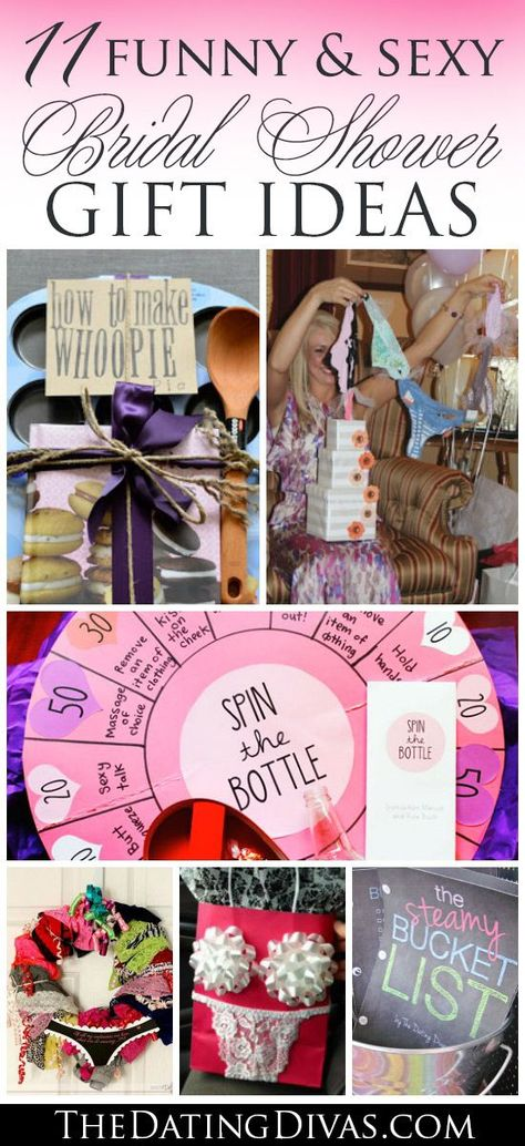 Funny and sexy bridal shower gift ideas for the bride. These are the best! www.TheDatingDivas.com