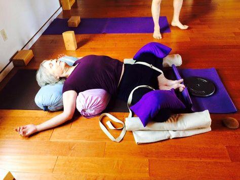 supta baddha konasana  basic yoga iyengar yoga