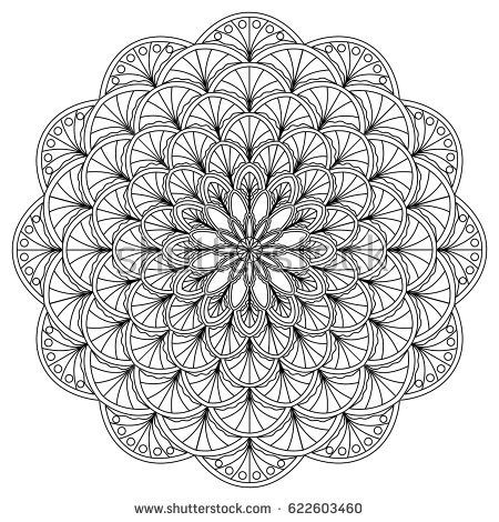 Mandala Coloring Page Vector Illustration Hand Drawn Mandala Coloring Pages Mandala Coloring Mandala Design Art