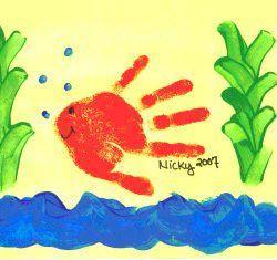 Pre-School Art Ideas - Handprint