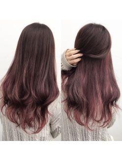 インナーカラーピンクラベンダー ヘアカラー ピンク インナーカラー ピンク 髪色 ピンク