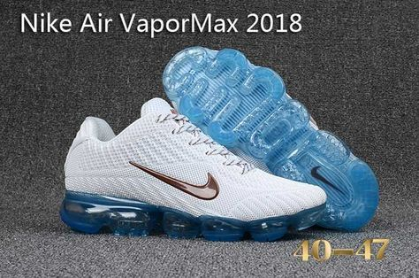 fe6cf47e01087 Original Air Max - Nike Air Vapormax 2018 Men Running Shoes White Blue