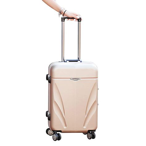 Coque dure Valise trolley 4 roues spinner Léger Bagage Voyage Case Rose