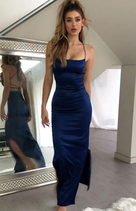 Manhattan Slip Formal Dress Midnight