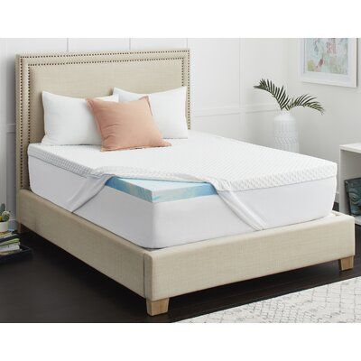 Sealy Sealy Chill 3 Memory Foam Mattress Topper In 2020 Memory Foam Mattress Topper Mattress Foam Mattress
