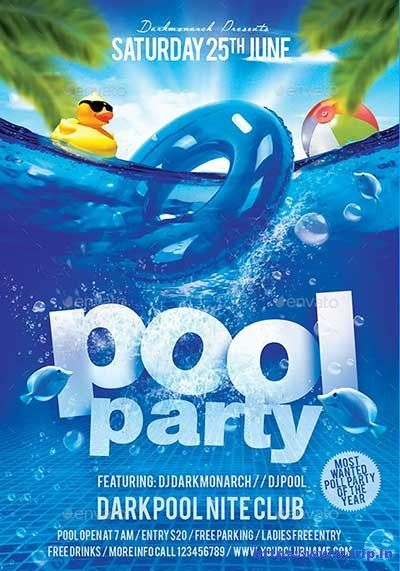 50 Best Summer Pool Party Flyer Print Templates 2020