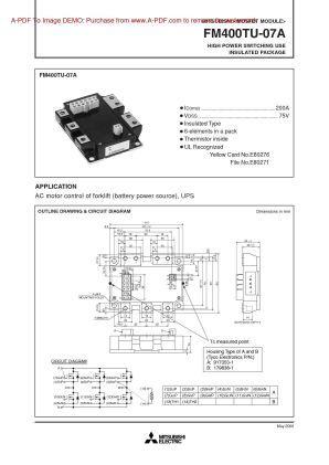 Mitsubishi Fm400tu 07a Power Mosfet Module Power New Century Higher Power