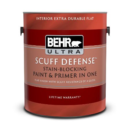 Behr Ultra Scuff Defense Stain Blocking Paint Primer In One Sets A New Standard For Flat Paint Durability Scuff Defense Fe Paint Primer Behr Durable Paint