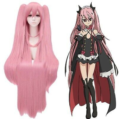 Amazon Com Pink Long Straight Braid Styling Hair Anime Character Full Wig Cosplay Costume Beauty Cosplay Wigs Yuno Cosplay Wigs