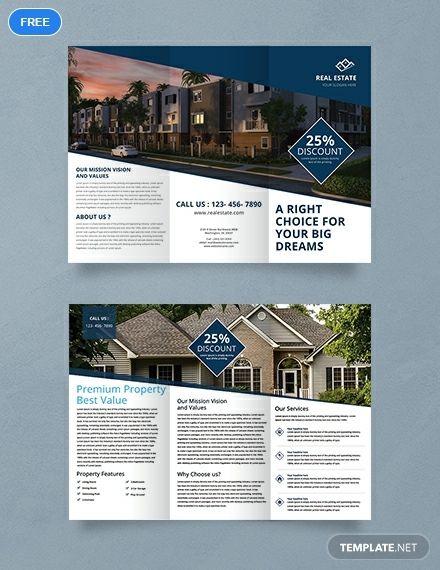 Free Real Estate Trifold Brochure Hotel Brochure Brochure
