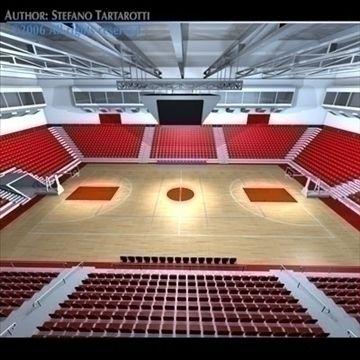 Basketball Arena 3d Model Arenas 82313 Sport