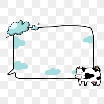 Seedlings Clouds Border Vector Cartoon Hand Painted Png Transparent Clipart Image And Psd File For Free Download Blue Background Images Cartoon Template Cow Border