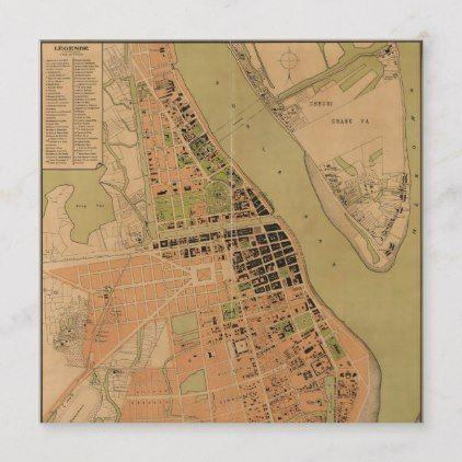 Map Of Phnom Penh Cambodia Circa 1920 Zazzle Com Historical