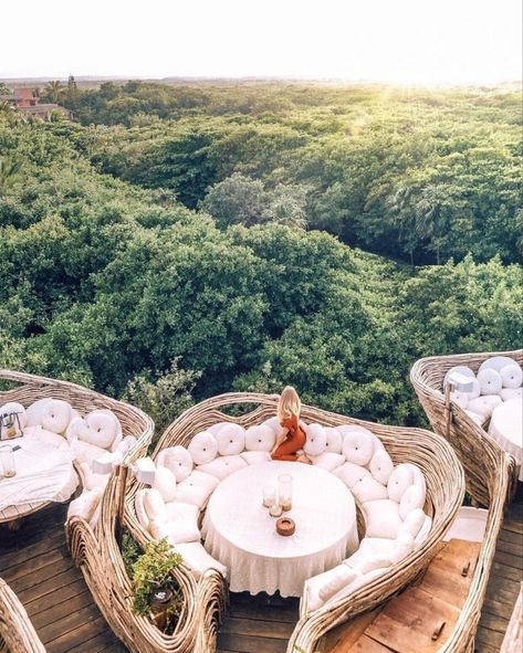 A Look Inside Azulik Tulum Treehouse Eco Resort – architecture Vacation Places, Vacation Destinations, Dream Vacations, Places To Travel, Best Vacation Spots, Honeymoon Places, Azulik Hotel Tulum, Azulik Tulum, Tulum Mexico Resorts