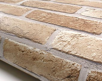 Whitewashed Antique Brick Peel N Stick Or Traditional Etsy In 2021 Faux Brick Backsplash Faux Brick Peel Stick Backsplash