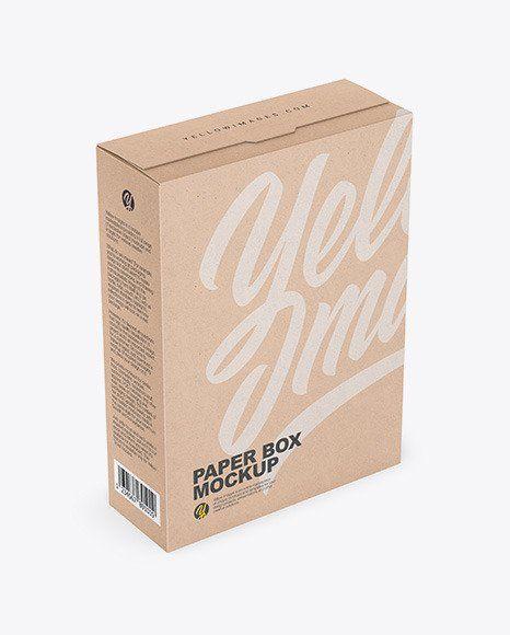Download Cereal Box Mockup In 2020 Box Mockup Kraft Boxes Cereal Box