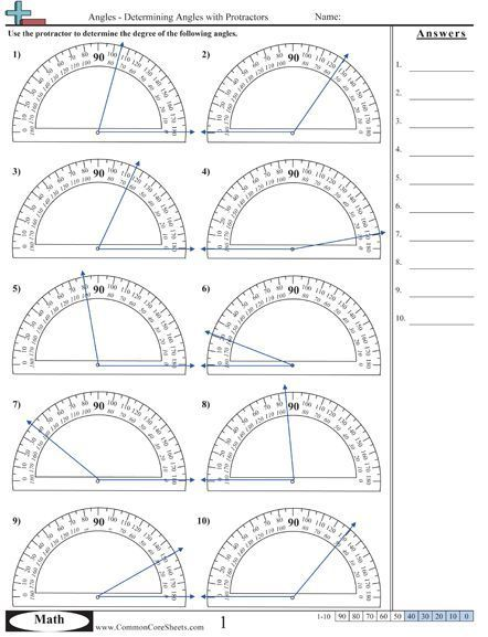 Angles Excellent Source For Identifying And Measuring Angles Math Worksheets Math School Teaching Math