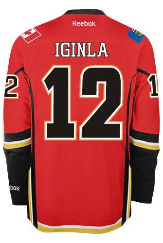 official photos 7c81b 54a52 Calgary Flames VINTAGE Jarome IGINLA #12 *C* Official Home ...