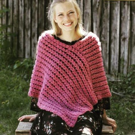 Poncho for women Lamb wool Hand knit Womens poncho Wool wrap Crochet poncho Womens wrap Handmade gif