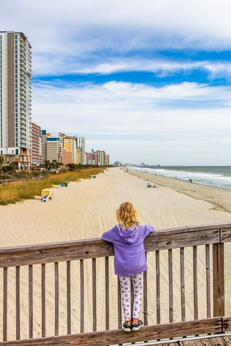 There are endless things to do in Myrtle Beach with kids that us adults will love doing too! From beach days, and riding the SkyWheel, to kayaking, pirate dinner  theatre shows, shopping and more. Check out the full list of 16 FUN things to do in Myrtle Beach with kids on our blog! #MyrtleBeach #BeachVacations #USBeaches #MyrtleBeachAttractions #USRoadTrips #FamilyTravel