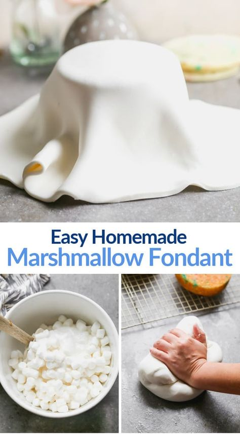 With just four ingredients, marshmallow fondant is inexpensive and easy to make and use for any creative cake decorating project! Creative Cake Decorating, Cake Decorating Techniques, Creative Cakes, Decorating Tips For Cakes, Cake Icing Techniques, Creative Birthday Cakes, Cake Decorating With Fondant, Marshmallow Fondant, Frosting Recipes