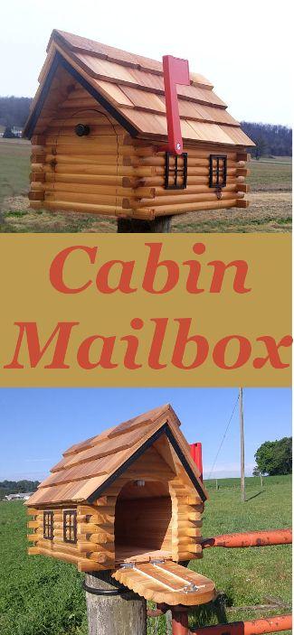 Rustic Log Cabin Mailbox. Camp | Lake House | Cottage | Lodge. (Affiliate