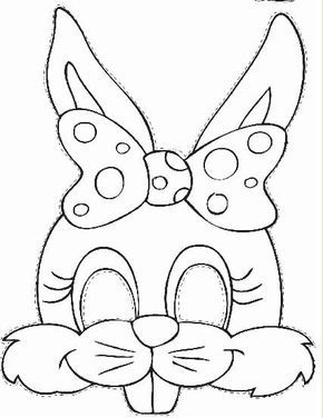 Easter Bunny Face Printable Animal Mask Templates Bunny Mask
