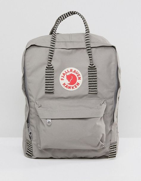 Buy Fjallraven Kanken in Fog Grey with Contrast Stripe Top Handle and Straps at ASOS. With free delivery and return options (Ts&Cs apply), online shopping has never been so easy. Get the latest trends with ASOS now.