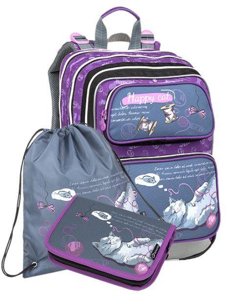 5e6710b1b BAGMASTER Školský batoh GALAXY 9 A (3-dielny set)   Školské tašky pre  dievčatá   Tašky, Galaxie a Pre dievčatá