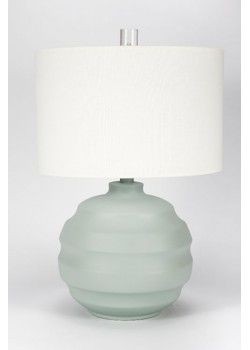 Gallery Designs Lighting Oyster Linen Shade On Matte Spa Green