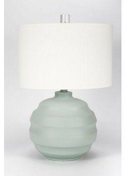 Gallery Designs Lighting Oyster Linen Shade On Matte Spa Green