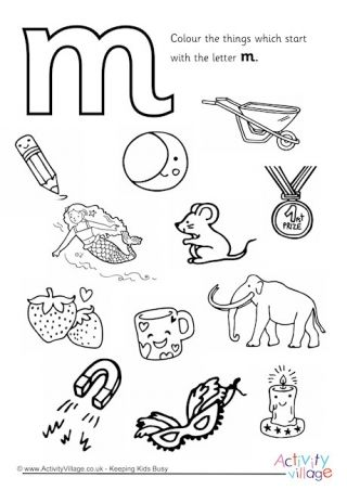 Letter M Colouring Pages Preescolar