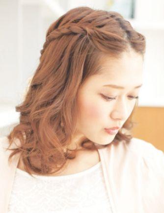 ロングの前髪なしの可愛いヘアアレンジ特集 髪型 ヘアスタイル