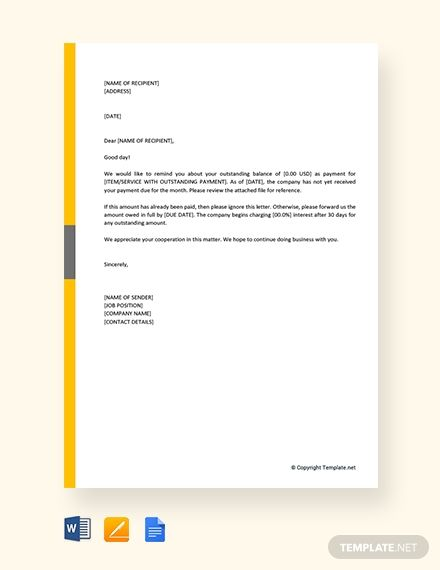 Nonreceipt Of Payment Letter Template Free Pdf Google Docs Word Template Net Letter Templates Lettering Letter Templates Free