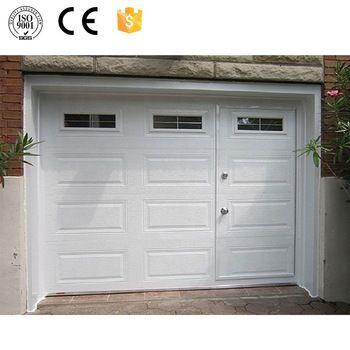 Cheap Garage Doors With Small Pedestrian Access Door Buy Garage Door Garage Door With Pedestrian Door Cheap G In 2020 Remodel Bedroom Garage Doors Garage Door