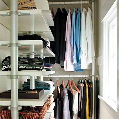 Take a peek inside Béa and Scott Johnson's shared minimalist closet