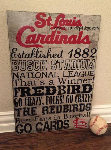 http://www.saltandlightsigns.com  St Louis Cardinals baseball wooden sign