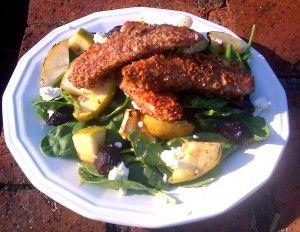 Almond Crusted Chicken Salad! Paleo & gluten free