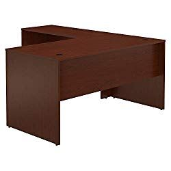 Bush Furniture Commerce 60w L Shaped Desk In Autumn Cherry Bush