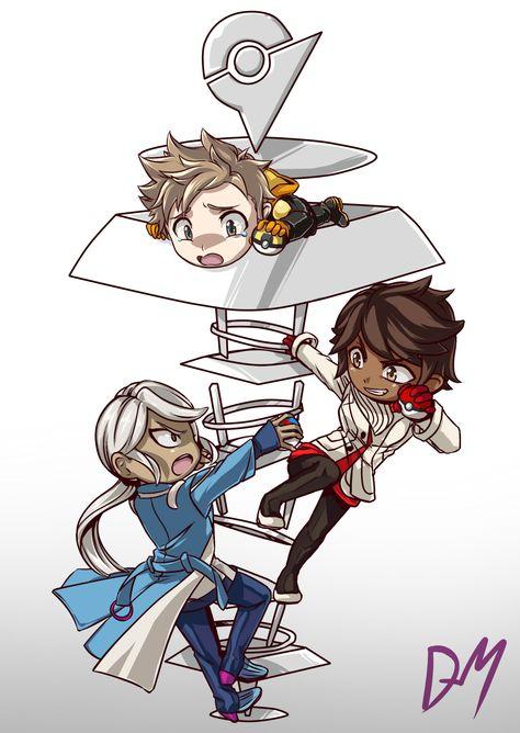 Pokemon go team leaders By: Dark-Merchant